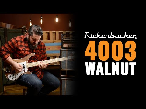 bass - This classic Rickenbacker 4003 Bass in Walnut showcases the famous Rick ringing sustain, treble punch and solid underlying bass tone. Marc plays the Rickenbacker 4003 Walnut Bass ...