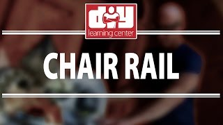 Video - Chair Rail Install Guide