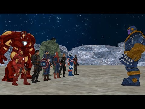 Thanos vs Avengers , ( Thanos vs Ironman , Hulk , Captain America , Thor , Spiderman )