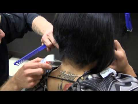 Short sexy a line bob womens haircut video