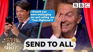 Video Bradley Walsh DESTROYED 😱 by Michael McIntyre's nightmare text - Send To All MP3, 3GP, MP4, WEBM, AVI, FLV Agustus 2019