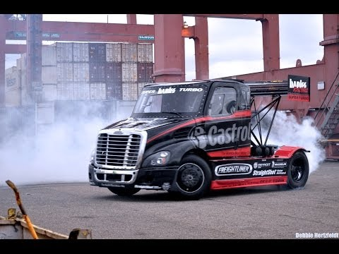Semi-style Gymkhana vid showcases Mike Ryan stunt series