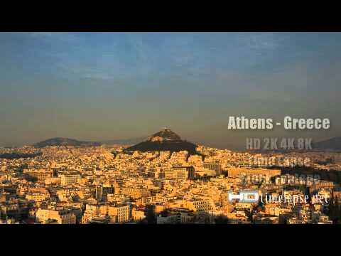 Athens, Greece – UHD Ultra HD 2K 4K Video Time Lapse Stock Footage Royalty-Free