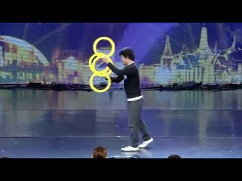 Incredible Contact Ring Juggling – Magic Rings Illusion at Thailand's Got Talent 2014