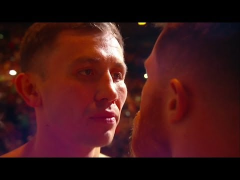 Canelo v Golovkin - Official weigh in and ICE COLD staredown (видео)
