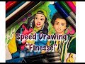 BRUNO MARS FT CARDI B - FINESSE (REMIX) | SPEED DRAWING