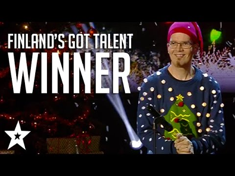 This Man Performs 'Happy Christmas' By Farting With His Hands - Finland's Got Talent 2016
