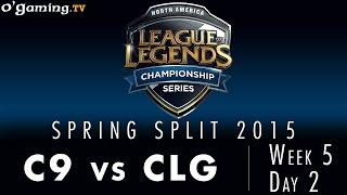 LCS NA Spring 2015 - W5D2 - C9 vs CLG