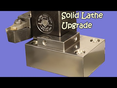 Solid Tool Post Mount For SB1001 CNC Lathe Conversion