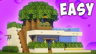 Minecraft: How To Build a MODERN TREE HOUSE/ Modern TreeHouse Tutorial [ How to make ] 2020