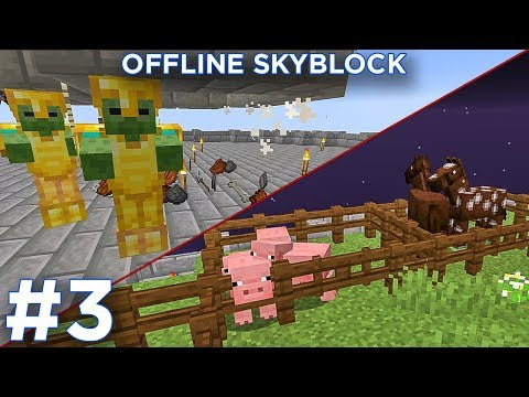 MOB/ANIMAL FARM! | Offline Skyblock Series with GDVenus  Episode 3 |