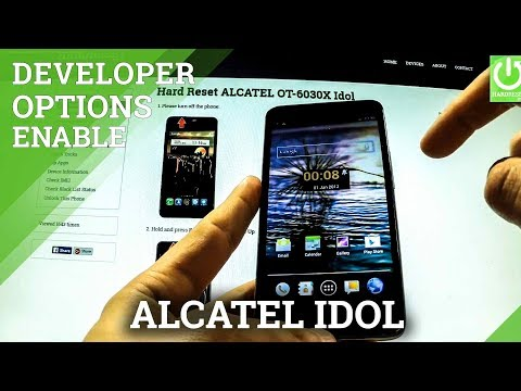 How to enter Developer Options ALCATEL OT-6030X Idol - enable USB Debugging
