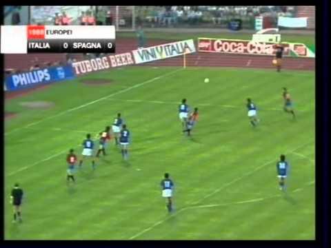euro '88: italia - spagna 1-0!
