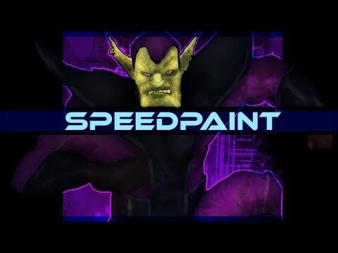 Skrull Marvel Comics Speedpaint on PSD - Thời lượng: 10 phút.