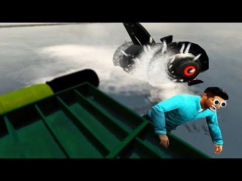 Prop hunt - SURVIVING A SHARK ATTACK & BUILDING A RAFT  Garry's Mod Gameplay  Gmod Gameplay - Sandbox Roleplay
