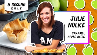 Right-Sized Caramel Apple Bites l 5 Second Rule with Julie Nolke by Tastemade
