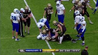 Prep Football: Minneapolis North vs Caledonia, Prep Bowl (11/29/2019)