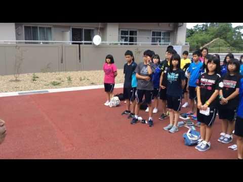 戸倉復興住宅 北海道大樹町立大樹中学校生徒の皆さん(1)