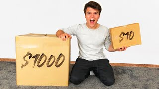Video $10 VS $1000 MYSTERY BOX! (INSANE) MP3, 3GP, MP4, WEBM, AVI, FLV Oktober 2018