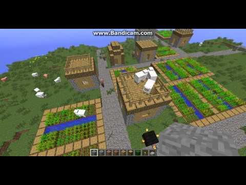Minecraft 1.2.4 Seeds - NPC Village #2