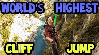 #MeetTheChallenge - Worlds's Highest Cliff Jump in Queenstown New Zealand