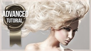 Advanced Photoshop Tutorial #19 - Professional Hair Masking Technique