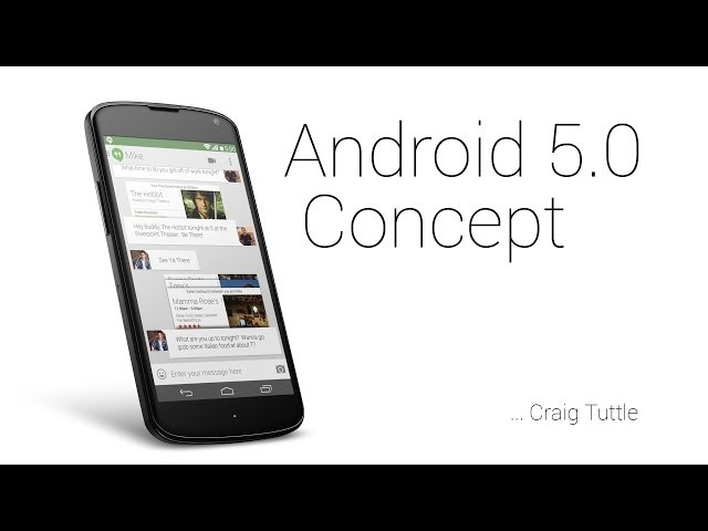Android 5.0 Concept