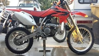 9. 2008 Honda CR150R Oil and Transmission Fluid Change