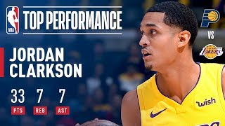Jordan Clarkson Season High 33 Points OFF THE BENCH vs The Pacers