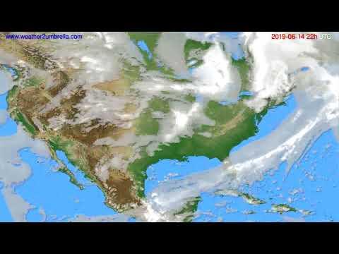 Cloud forecast USA & Canada // modelrun: 00h UTC 2019-06-12