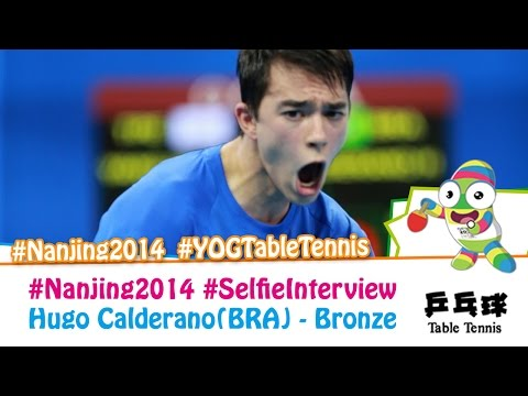 #Nanjing2014 Selfie Interview – Hugo Calderano (Bronze medal match)