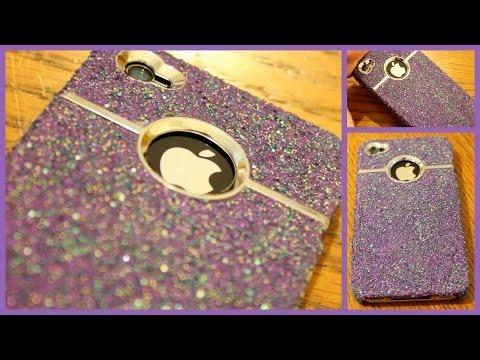 DIY Sparkle iPhone Case! видео