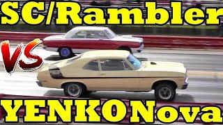 EVER SEEN these MUSCLE CARS??  69 SC/RAMBLER 390 vs 70 YENKO NOVA 1/4 Mile Drag Race - RoadTestTV by Road Test TV