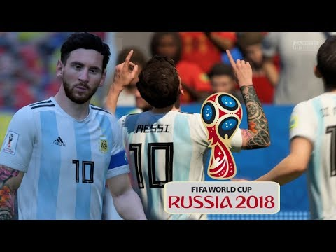 FIFA World Cup 2018 Argentina Vs Belgium FIFA 18 New World Cup Gameplay Update