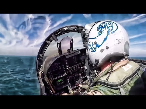 F A18 Cockpit View Jet Launch From USS Theodore
