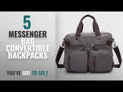Top 10 Messenger Bag Convertible Backpacks [2018 Best Sellers]: GESU Hybrid Laptop Backpack