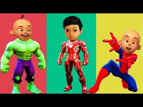 Wrong Superheroes Ice Cream Upin Ipin Adit Sapo Jarwo Avengers Finger Family Song