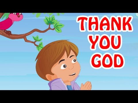 Kids Video - Thank You God | English Prayer For Kids