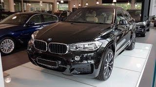 """Hello and welcome to BMW.view. In this video we review the interior and exterior of the 2017 BMW X6 xDrive30d. Produced in 4K. Facebook: https://www.facebook.com/pages/BMWview/860051290681663?ref=hlsubscribe -[BMW.view]- here: https://www.youtube.com/channel/UCuZoR8ZNgfPKBaPMPryyD1gMotor/engine: 190 KW/2993 ccmLackierung: Saphirschwarz metallicPolster: Exclleder Nappa m.er.Umfngen Elfenbeinweiß/SchwarzFelgen: 21"""" M LMR Doppelspeiche 599 MLicht: Adaptiver LED-ScheinwerferGrundpreis: 68.400,00 EURPakete: 14.490,00 EURSonderausstattung: 16.360,00 EURTranspkosten 4er: 750,00 EURServicepaket Zulassung: 165,00 EURGesamtpreis = 100.165,00 EURPakete: M Sportpaket, Interieurdesign Pure Extravagance Elfenbeinweiß/Schwarz i.V.m. M Sportpaket, Comfort Paket, Navigationspaket ConnectedDrive, Sonderausstattungmusic:Track: Rogers & Dean - No Doubt [NCS Release]Music provided by NoCopyrightSounds.Download / Stream: http://ncs.io/NoDoubtYOSong: Culture Code feat. Karra - Make Me Move (James Roche Remix) [NCS Release] Music provided by NoCopyrightSounds.Video: https://youtu.be/B9rPUaRn-rUDownload: http://ncs.io/MakeMeMoveRemixSong: Kontinuum - Lost (feat. Savoi) [JJD Remix]Music provided by NoCopyrightSounds.Video Link: https://youtu.be/r9OWmGwbRG0Download: http://ncs.io/LostJJDRemix"""