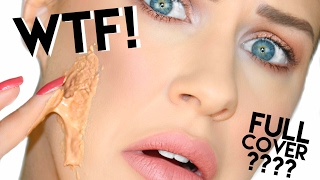 Video WORLDS MOST FULL COVERAGE FOUNDATION!?? WTF!? | DERMACOL FOUNDATION REVIEW!! MP3, 3GP, MP4, WEBM, AVI, FLV Mei 2019