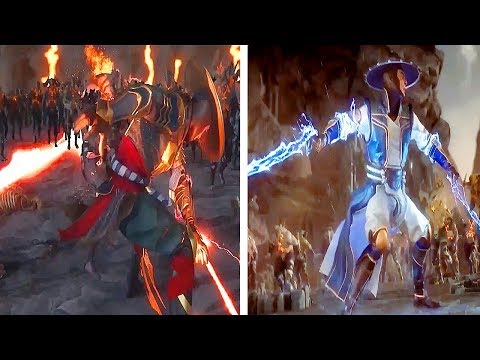 Dark Raiden Goes Super Saiyan Vs Good Raiden Goes Super Saiyan Comparison MORTAL KOMBAT 11 AFTERMATH