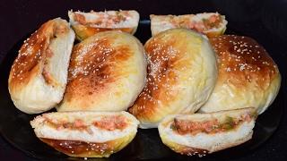 Pizza Buns Recipe - Homemade Stuffed Buns - Pizza Burger Recipe