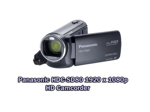 Panasonic HDC-SD80 1920 x 1080p HD Camcorder