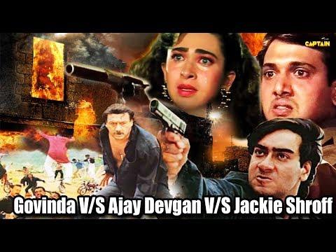 Top Bollywood Action Scenes    Govinda V/S Ajay Devgan V/S Jackie Shroff