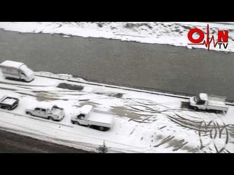 Of'ta 2015 Yılının İlk Kar Yağışı
