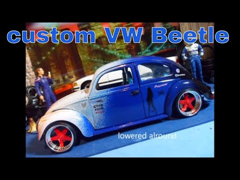 VW beetle 1/18 scale model cs.diecast.tuning modified/tuned
