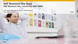 SAP Business One Apps for the version for SAP HANA