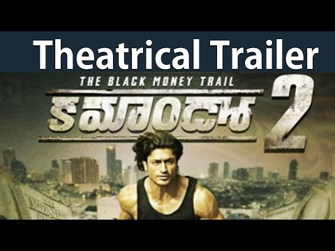 Commando 2 telugu theatrical trailer :  Vidyut Jamwal : Adah Sharma  #tollywoodlatestnews