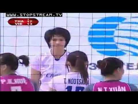 AVC 2012 Thailand VS Vietnam Semi final 15 09 2012 Set 1 of 3