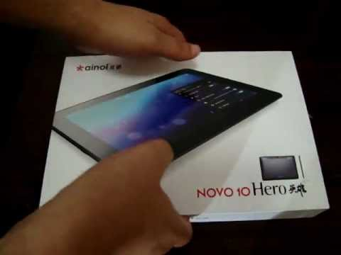Ainol Novo 10 Hero Tablet PC unboxing World Premiere @ dealsprime